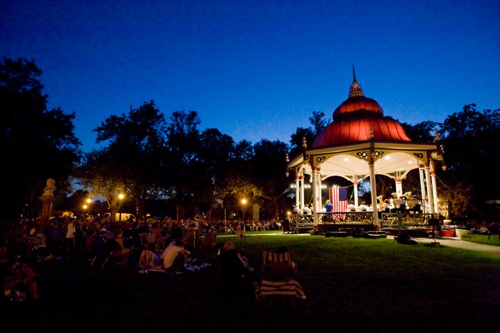 Henry Shaw Bandstand in Tower Grove Park; Jim Sparks, Photographer